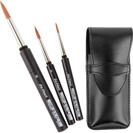 Da Vinci Gıft Case Pocket Brushes 1573 No: 4, + 10