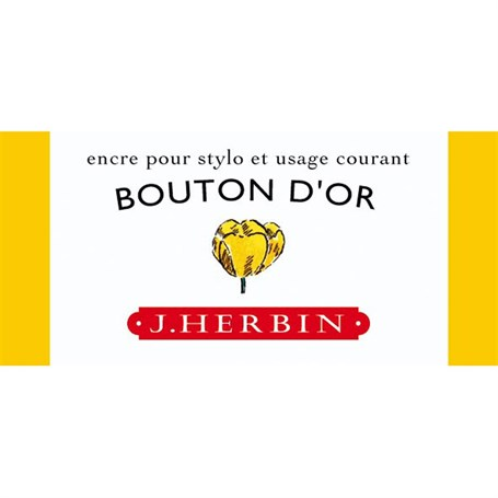 J. Herbin D Fountain Pen Ink Bottle 30 Ml 13053T Bouton D'Or