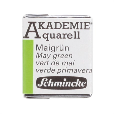 Schmincke Akademie Aquarell Yarım Tablet Sulu Boya 552 May Green