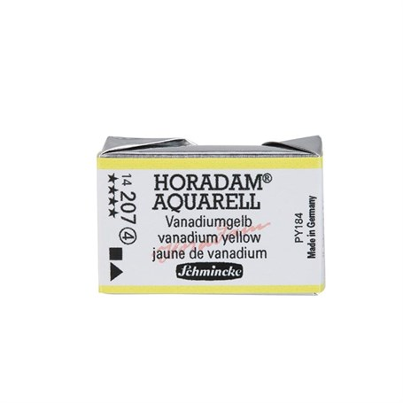 Schmincke Horadam Aquarell Artist Sulu Boya Tam Tablet Seri 4 207 Vanadium Yellow