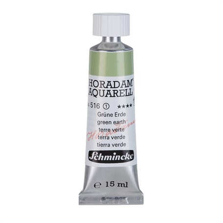 Schmincke Horadam Aquarell Artist Sulu Boya 15 ml Tüp Seri 1 516 Green Earth