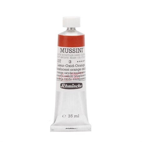 Schmincke Mussini Artist Yağlı Boya 35 ml Seri 3 237 Translucent Orange Oxide