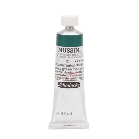 Schmincke Mussini Artist Yağlı Boya 35 ml Seri 3 511 Chrome Green Hue Deep