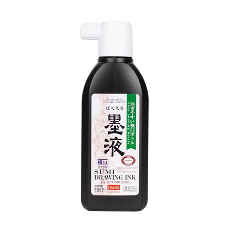 Daiso Sumi Drawing Ink Kaligrafi Mürekkebi 180 ml No.17