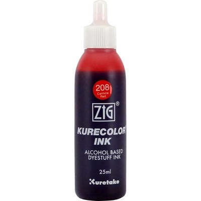 ZİG KURECOLOR MÜREKKEP 25 ML 208 CARMINE RED