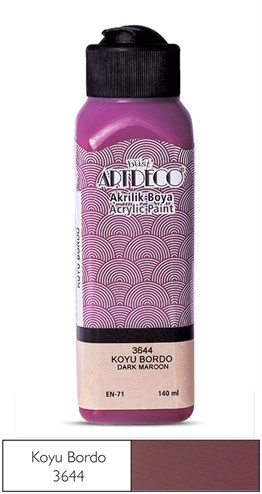 Artdeco Acryclic Paint 140 ml 3644 Dark Maroon