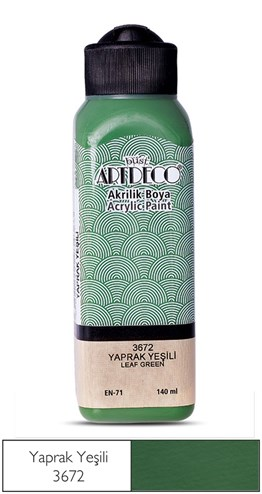 Artdeco Acryclic Paint 140 ml 3672 Leaf Green