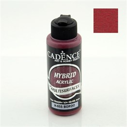 Cadence Hybrid Multisurface Akrilik Boya 120 ml H055 Bordo