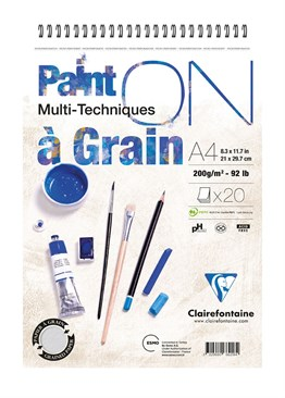Clairefontaine Paint - On A Grain PainOn pad G1S A4 20sh 250g