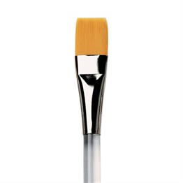 Da Vinci Nova Synthetic Brush Short Flat Perxpeks Transparent Handles Series 18