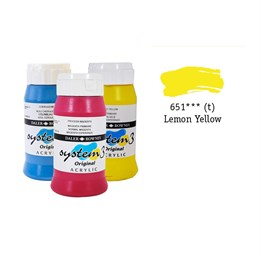 Daler Rowney System 3 Original Akrilik Boya 500 ml Lemon Yellow