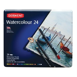 Derwent Watercolour Pencils 24 Pieces Metal Box