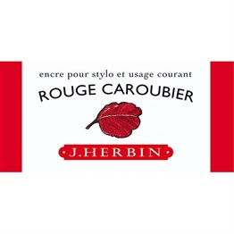 J. Herbin D Fountain Pen Ink Bottle 30 ml 13022T Rouge Caroubier
