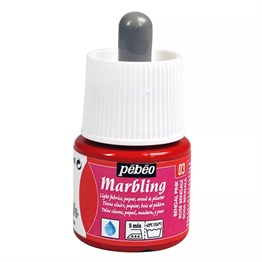Pebeo Marbling Paint 45 ml Bottle 03 Bengal Pink