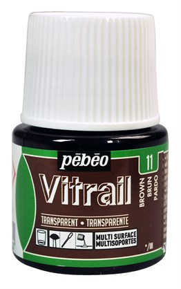 Pebeo Vitrail Cam Boyası 45 ml 11 Brown