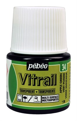 Pebeo Vitrail Cam Boyası 45 ml 34 Apple Green