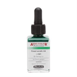 Schmincke Aero Color Professional Finest Acrylic Ink 28 ml S: 1 501 Brilliant Green