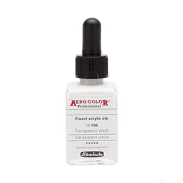 Schmincke Aero Color Akrilik Mürekkep 28 ml 100 Transparent White