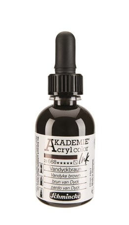 Schmincke Akademie Acrylic Ink 50 Ml 668 Vandyke Brown