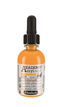 Schmincke Akademie Acrylic Ink 50 Ml 226 Indian Yellow