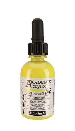 Schmincke Akademie Akrilik Mürekkep 50 ml Lemon Yellow