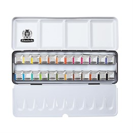 Schmincke Akademie Aquarell Metal Box Set 24 x 1/2 Pans 75424