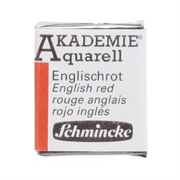 Schmincke Akademie Aquarell Yarım Tablet Sulu Boya 666 English Red