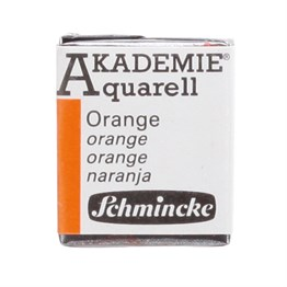 Schmincke Akademie Aquarell Yarım Tablet Sulu Boya 330 Orange