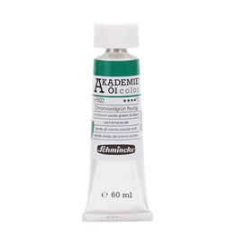 Schmincke Akademie Öl Color Yağlı Boya 60 ml Seri 1 502 Chromium Oxide Green Brilliant
