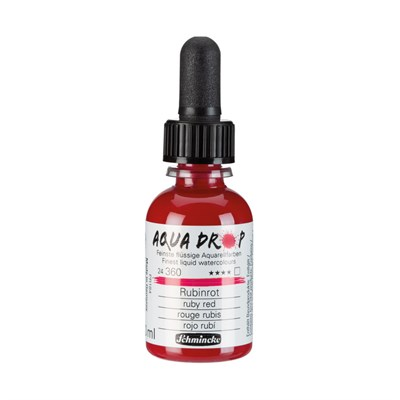 Schmincke Aqua Drop Sıvı Suluboya Ruby Red 30 ml