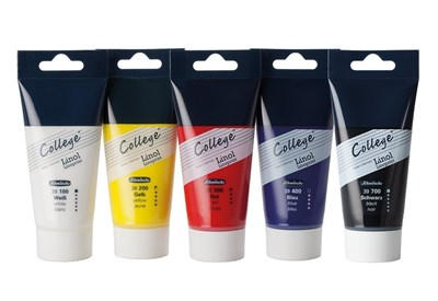 Schmincke College Linoprint cardboard set 5x75ml tubes