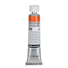 Schmincke HKS Designers Gouache Guaj Boya 20 ml Tüp 208 Red Orange