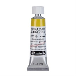 Schmincke Horadam Aquarell Artist Sulu Boya 15 ml Tüp Seri 3 537 Transparent Green Gold