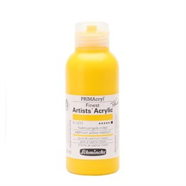 Schmincke Primacryl Artist Akrilik Boya 150 ml Seri 3 Cadmium Yellow Medium