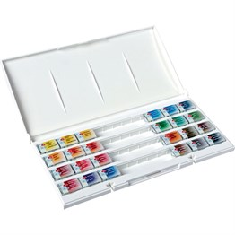 St. Petersburg White Nights Watercolours Set 24 Colors Plastic Box