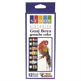Südor Guaj Boya Set 12 Renk 8.5 ml