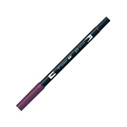 Tombow Dual Brush Pen Grafik Çizim Kalemi 679 Dark Plum