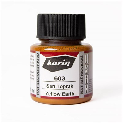 Calligraphy Ink Yellow Toprak 45 Ml