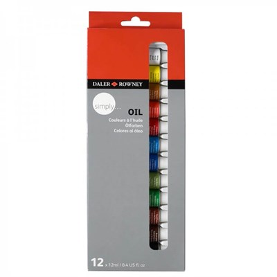 Daler-Rowney Simply Oil Set 12 Renk x 12 ml.